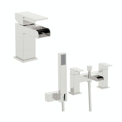 Flume basin and bath shower mixer pack